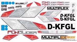 Dekorbogen FunGlider Multiplex 724801