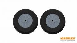 Moosgummiräder leicht u.schmal 45mm 1Paar Multiplex 733204