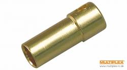 4,0mm Buchse (Gold) 3St. Multiplex 85283