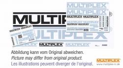 Aufkleberset MPX-Logo schwarz/weiß/silber 35x25cm Multiplex 8557