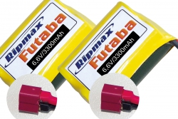 Empfängerakku 2er Pack LiFe 6,6V / 3.300mAh Ripmax O-2SLIFE3300-2