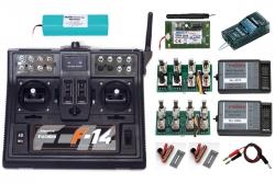 Futaba F14 Komplettset 7 2,4GHz 2Prop MS16 MSP12+2 Futaba P-CBF14N24SET7