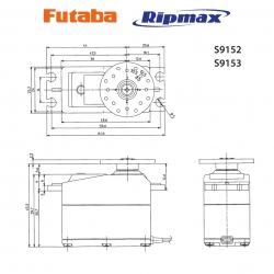 Futaba FUTABA S9150 0,19s/20,0Kg Futaba P-S9152