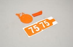Futaba 35MHz Frequenz Fahne Ch 75 Slec P-SL065/75