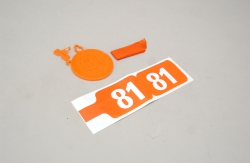 Futaba 35MHz Frequenz Fahne Ch 81 Slec P-SL065/81