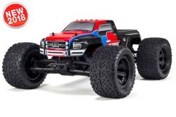 Arrma - Granite Voltage 2WD 1/10 Monster Truck RTR - 18650 Li-Ion (2x) - AC-Charger - Red / Black AR102663 Hobbico