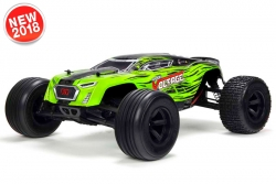 Arrma - Fazon Voltage 2WD 1/10 Monster Truck RTR - 18650 Li-Ion (2x) - AC-Charger - Green / Black AR102675 Hobbico