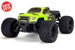 Arrma - Granite 4x4 Mega 1/10 Monster Truck RTR - NiMh 8.4V 2400mAh - Charger - Green / Black AR102680 Hobbico