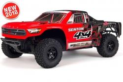 Arrma - Senton 4x4 Mega 1/10 Short Course Truck RTR - NiMh 8.4V 2400mAh - Charger - Red / Black AR102682 Hobbico