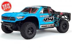Arrma - Senton 4x4 Mega 1/10 Short Course Truck RTR - NiMh 8.4V 2400mAh - Charger - Blue / Black AR102683 Hobbico