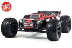 Arrma - Kraton 6S BLX 4WD - 1/8 Monster Truck RTR - no batteries, no charger - Red / Black AR106029 Hobbico