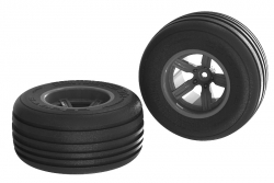 Arrma - Dirt Runner ST Front Tire Set Glued Black (2) AR550040 Hobbico