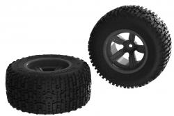 Arrma - Dirtrunner ST Rear Tire Set Glued Black (2) AR550041 Hobbico