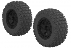 Arrma - DBOOTS FORTRESS SC TYRE SET GLUED (Black) (2pcs) AR550042 Hobbico