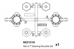Axial - Steering Knuckle Set Yeti Jr AX31516 Hobbico