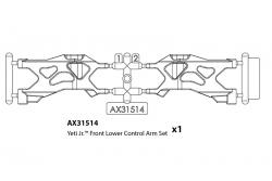 Axial - 1.9 Method MR307 Hole Wheels - Black (2) AX31541 Hobbico