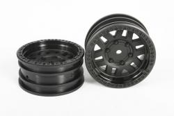Axial - 1.9 KMC XD Machete Crawl Wheels - Black (2pcs) AX31587 Hobbico
