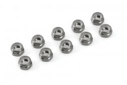 Team Corally - Aluminium Sechskantmutter Selbstsichernd - M2 - Gun Metal - 10 St C-31013