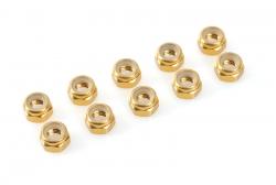 Team Corally - Aluminium Sechskantmutter Selbstsichernd - M3 - Gold - 10 St C-31020