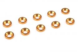 Team Corally - Aluminium Unterlegscheibe - für M3 Senkkopfschrauben - AD=8mm - Gold - 10 St C-31200