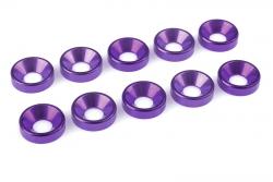 Team Corally - Aluminium Unterlegscheibe - für M5 Senkkopfschrauben - AD=12mm - Violet - 10 St C-31222