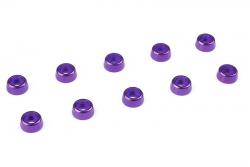 Team Corally - Aluminium Unterlegscheibe - für M2 Zylinderkopfschrauben - AD=6mm - Violet - 10 St C-31252