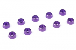 Team Corally - Aluminium Unterlegscheibe - für M2.5 Zylinderkopfschrauben - AD=7mm - Violet - 10 St C-31262