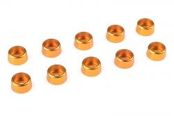 Team Corally - Aluminium Unterlegscheibe - für M3 Zylinderkopfschrauben - AD=8mm - Gold - 10 St C-31270
