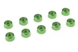 Team Corally - Aluminium Unterlegscheibe - für M3 Zylinderkopfschrauben - AD=8mm - Grün - 10 St C-31271