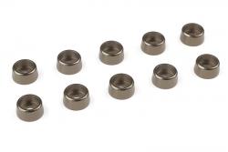 Team Corally - Aluminium Unterlegscheibe - für M3 Zylinderkopfschrauben - AD=8mm - Gun Metal - 10 St C-31273