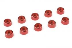 Team Corally - Aluminium Unterlegscheibe - für M3 Zylinderkopfschrauben - AD=8mm - Rot - 10 St C-31275