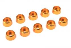 Team Corally - Aluminium Unterlegscheibe - für M4 Zylinderkopfschrauben - AD=10mm - Gold - 10 St C-31280