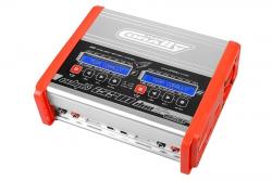 Team Corally - Ladegerät - Eclips 2240 Duo - AC/DC - 240W Leistung - Digital Anzeige - (2X) 1-6 Li-Xx - 1-15 Ni-Xx C-48490