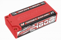 Team Corally - Sport Racing 50C LiPo Battery - 4800mAh - 7.4V - Shorty 2S - 4mm Bullit C-49405