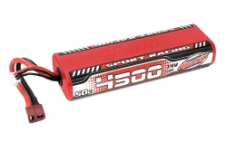 Team Corally - Sport Racing 50C LiPo Battery - 4500mAh - 7.4V - Round 2S Stick - T-Plug C-49440