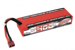 Team Corally - Sport Racing 50C LiPo Battery - 5400mAh - 7.4V - Stick 2S - Hard Wire - T-Plug C-49442