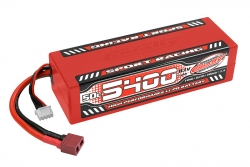 Team Corally - Sport Racing 50C LiPo Battery - 5400mAh - 11.1V - Stick 3S - Hard Wire - T-Plug C-49445