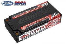 Team Corally - Voltax 120C LiPo Battery - 4200mAh - 7.4V - LCG Shorty 2S - 4mm Bullit C-49500