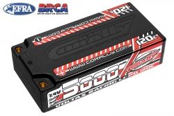 Team Corally - Voltax 120C LiPo Battery - 5000mAh - 7.4V - Shorty 2S - 4mm Bullit C-49505