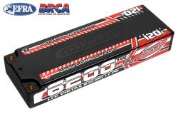 Team Corally - Voltax 120C LiPo Battery - 6200mAh - 7.4V - LCG Stick 2S - 4mm Bullit C-49510