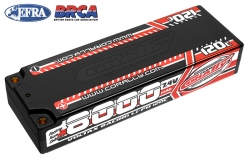Team Corally - Voltax 120C LiPo Battery - 8000mAh - 7.4V - Stick 2S -  4mm Bullit C-49523