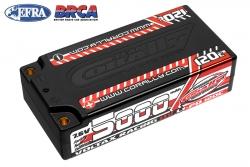 Team Corally - Voltax 120C LiPo HV Battery - 5000 mAh - 7.6V - Shorty 2S - 4mm Bullit C-49605