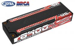 Team Corally - Voltax 120C LiPo HV Battery - 6400 mAh - 7.6V - LCG Stick 2S - 4mm Bullit C-49610