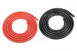 Team Corally - Ultra V+ Silikon Kabel - Extrem hochflexibel - Schwarz und Rot - 12AWG - 1731 / 0.05 Stränge - AD 4.5mm - 2x 1m C-50112