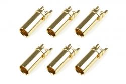 Team Corally - Bullit Steckverbinder 3.5mm - Buchse - Vergoldet - Ultra niedrigen Widerstand  - 6 St C-50161