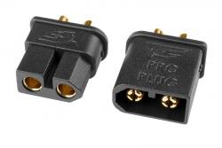 Team Corally - TC PRO Steckverbinder 3.5mm - Vergoldet - Verpolschutz -  Stecker + Buchse - 1 Paar C-50180