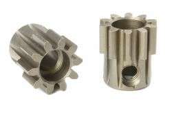 Team Corally - M1.0 Motorritzel - Stahl gehärtet - 10 Zähne - Welle 5mm C-72710