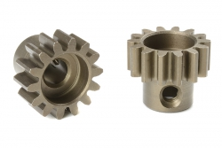 Team Corally - M1.0 Motorritzel - Stahl gehärtet - 14 Zähne - Welle 5mm C-72714
