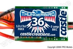 Castle - Thunder Bird 36 - Brushless Sport Flugregler - 2-3S - 36A - Bec CC-010-0051-00