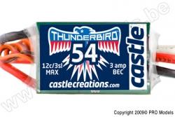 Castle - Thunder Bird 54 - Brushless Sport Flugregler - 2-3S - 54A - Bec CC-010-0053-00